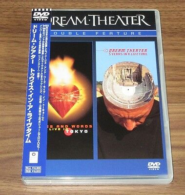 DREAM THEATER Japan PROMO 2 x DVD obi DOUBLE FEATURE inc TOKYO LIVE more listed