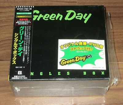 Green Day Japan only 7 x CD single box set COMPLETE 1st issue ONLY strap OBI