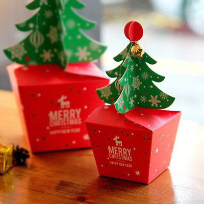Christmas Tree Dessert Cookies Candy Gift Apple Packing Box Cupcakes Wedding Box