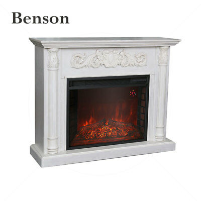 New 2000W Electric Mantel Fireplace Suite With Realistic Flame Effect