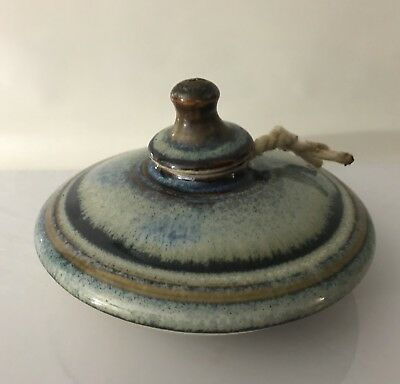 "Decorative Ceramic Oil Candle Aroma Bowl With Lid Holder 5"" Diameter"