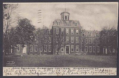 1906 Main Building At Albright College, Myersburg Pa
