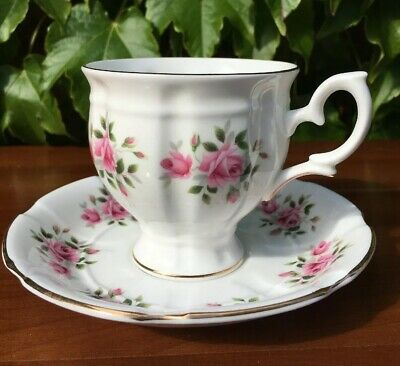 Crown Fine Bone China Staffordshire England cup and saucer