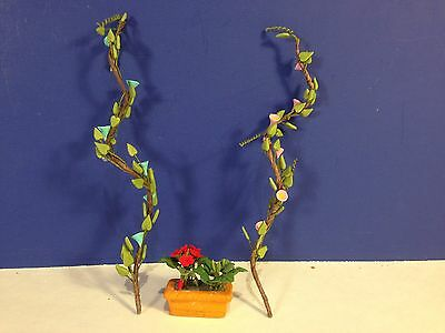 Lot of 2 Dept 56 FLOWERING VINE & GERANIUM WINDOW BOX Seasons Bay Village