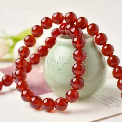 12mm Natural Smooth Red Jade Round Gemstone Jewelry DIY Loose Beads 15'' AAA