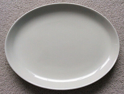 """Russel Wright Iroquois Casual China – sugar white 12 ½"""" oval serving platter"""
