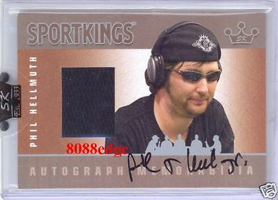 2007 Sport Kings Worn Swatch Auto Silver: Phil Hellmuth /40 Autograph Poker