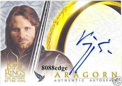 2003 Lord Of The Rings Return Of King Auto: Viggo Mortensen/aragorn - Autograph