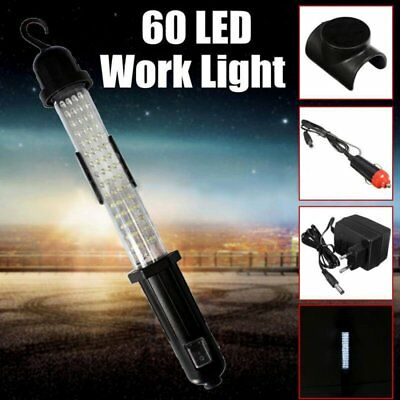 60 LED Rechargeable Cordless Work Light Inspection Lamp Torch 7W 6500K F5