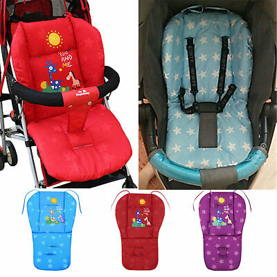 Baby Car Pad Thick Stroller Mat Breathable Seat Cushion Cotton Thick Mattress