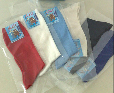 6 Pairs Of Stockings Baby Long Leon D'gold In 100% Cotton Lisle Thread Baby