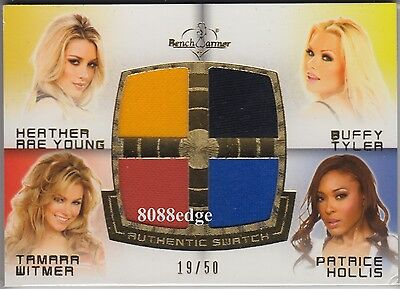 2012 Benchwarmer Soccer Quad Swatch: Young/tyler/witmer/hollis #19/50 Jersey
