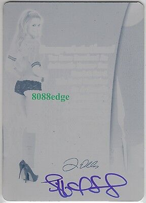 2012 Benchwarmer Soccer Auto: Tiffany Selby 1/1 Printing Plate Autograph Playboy