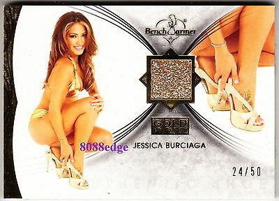 2013 Benchwarmer Gold Edition High Heel-Jessica Burciaga #24/50 Worn Shoe Swatch