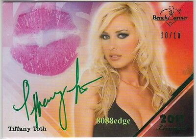 2011 Benchwarmer Limited Lip Kiss Auto: Tiffany Toth #10/10 Autograph Playmate