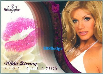 2010 Benchwarmer Ultimate Kiss: Nikki Ziering #22/25  Authentic Dna Lip Print