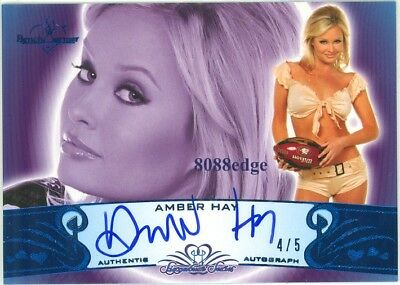 2010 Benchwarmer Ss Blue Foil Auto #76A: Amber Hay #4/5 Autograph