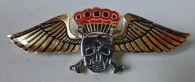 44 PARACHUTE BRIGADE SOUTH AFRICA commemorative METAL SCULL AIRBORNE PARA WING