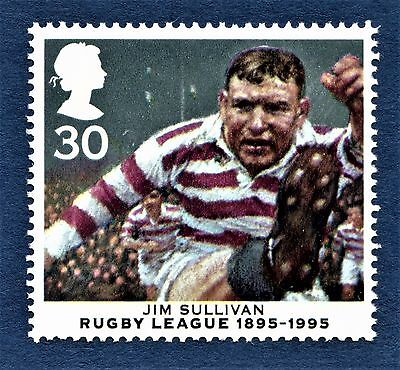 GB James Jim Sullivan  Wigan RLC Rugby League Centenary Stamp Unmounted Mint