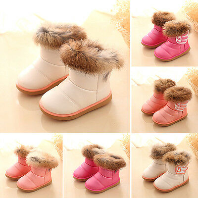 Winter Fashion Kids Rabbit Fur Martin Boots Snow Baby Shoes Toddler Girls Boots