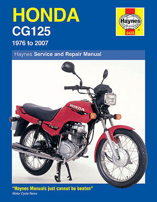 0433 Haynes Honda CG125 (1976 - 2007) Workshop Manual
