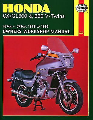 0442 Haynes Honda CX/GL500 & 650 V-Twins (1978 - 1986) Workshop Manual