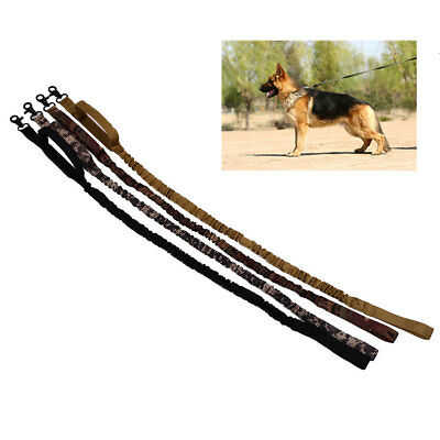 Dog Tactical Leash Elastic Strap Training Walk Military Army Puppy Leads Rope