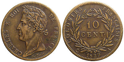 France, Colonies, 10 Cents 1829 B1