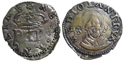 I- Milan, Philip II of Spain (1556-1598). Trillina nd, italy  B