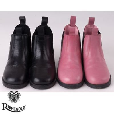 SALE Rhinegold Little Tots Childrens Leather Jodhpur Boots