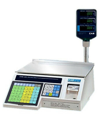 CAS LP1000N Label Printing Scale / Pole 30X0.01 lb,NTEP,Legal For Trade