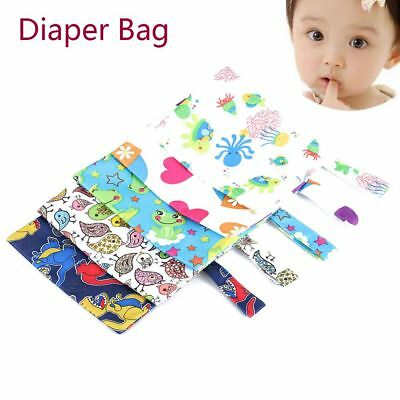 Baby Nappy Reusable Washable Wet Dry Cloth Zipper Waterproof Diaper Hand Bags