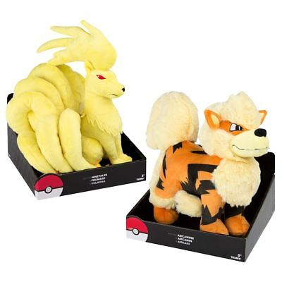 "New Pokemon 9.8"" Arcanine Or Ninetales Soft Plush Toy 25cm TOMY Official"