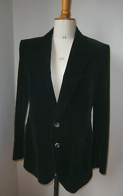 "VINTAGE 1970s St MICHAEL MENS 2 BUTTON BLACK VELVET JACKET PATCH POCKETS 38""/40"""