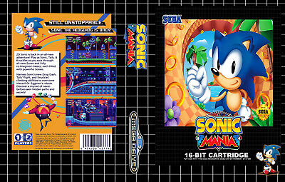 Sonic Mania Sega Mega Drive PAL Replacement Box Art Case Insert Cover Scan