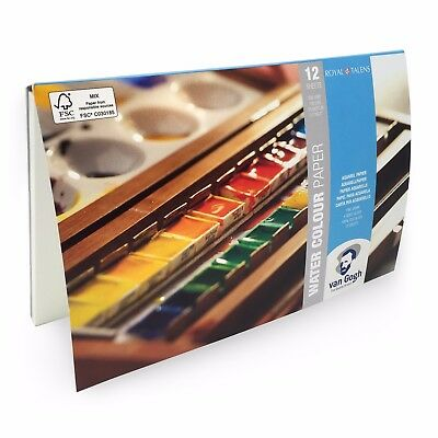 Royal Talens – Van Gogh – Watercolour Paper Blocks – 13.5 x 21cm - 12 Sheets
