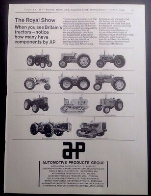 British Tractors Original Vintage Advert for ap Group 1964 Royal Show