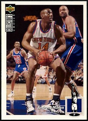 Anthony Mason #314 Collectors Choice 1994-5 Upper Deck Basketball Card (C502)