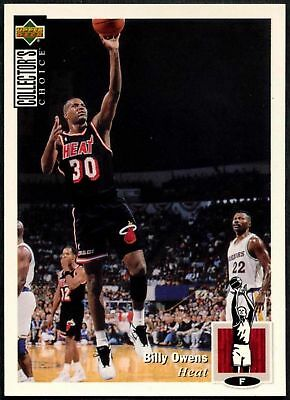 Billy Owens #345 Collectors Choice 1994-5 Upper Deck Basketball Card (C502)