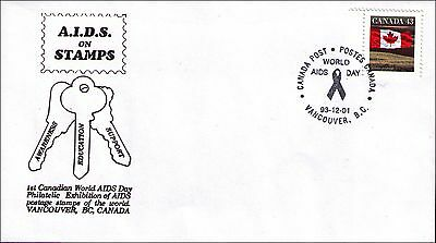 Canada World Aids Day Philatelic Exhibition Vancouver 92-12-01 Unaddressed Cover