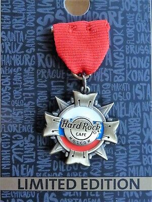 Hard Rock Cafe Moscow Moskau - Medal flag pin 2017 - new