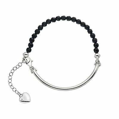 Hot Diamonds Festival de ónice negro pulsera de 19 cm