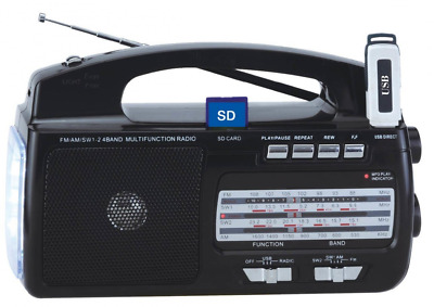 Supersonic SC1081 4 Band AM/FM/SW1-2 Portable Radio