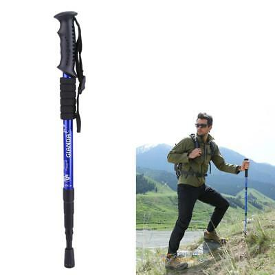 Anti Shock 4-Sections Hiking Walking Trekking Trail Poles Stick Adjustable Canes