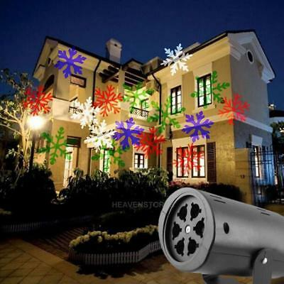 Outdoor Moving Xmas Snowflake LED Laser Light Projector Landscape Garden Lamps