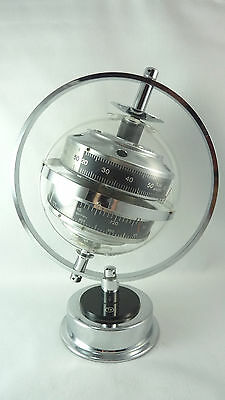 1970s MID CENTURY Modern SPACE AGE SPUTNIK WEATHER STATION 3-in-1 THERMOMETER