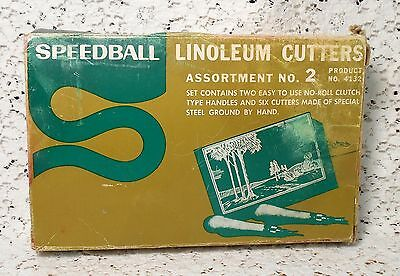 Vintage LINOLEUM CUTTERS Assortment No. 2 Product No.4132 by Speedball