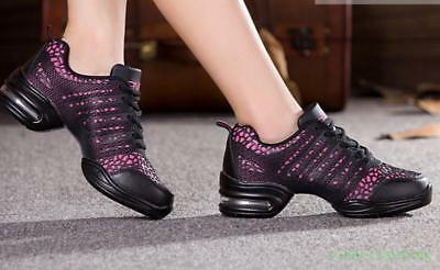 Women Jazz Hip Hop Comfort Dance Shoes Casual Breathable Sneakers CHic Dancewear