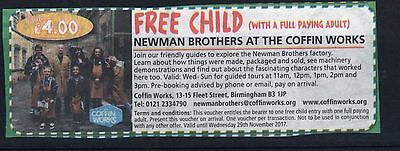 Free Child Admission With Full Paying Adult Birmingham Coffin Works Till 29/11