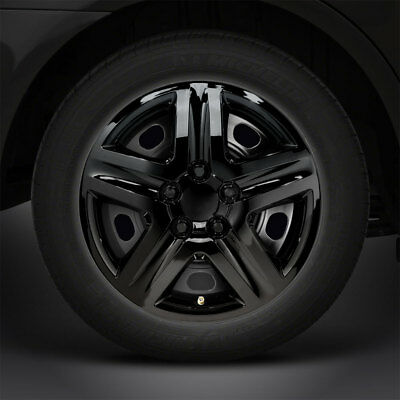 "17"" Gloss Black 'Monte Carlo' Deluxe Style Hubcaps/Wheel Covers (Set of 4)"